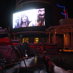 "Watching POTC while ""in"" the Caribbean"