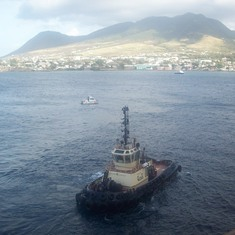 tug boat at St. Kitts