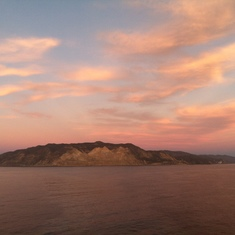 Sailing toward Catalina Island