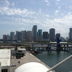 Miami from the ship.