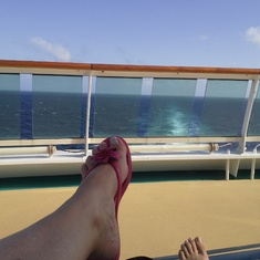 Deck 12 aft great quiet sunbathing