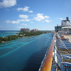 View of the Atlantis Hotel in Nassau