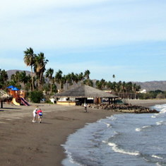 On the beach in Loreto