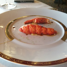 Lobster at Remy on Disney Dream
