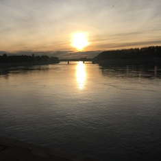 Sunset on the Rhone