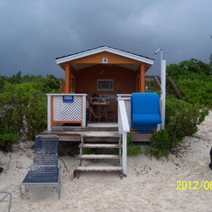 Our cabana rental on Half Moon Cay.