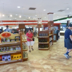 Duty Free Shopping in Grand Turk.  I bought a big gold Pocketbook here for $10.