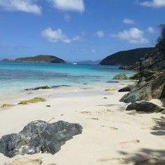 Cinnamon Bay, St. John (take the ferry from St. Thomas!)