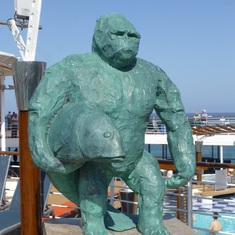 Celebrity Constellation - Sculpture on Deck