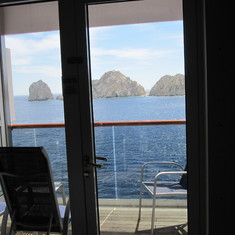 Cabo San Lucas from our cabin