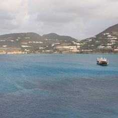 View from Balcony on St. Martin