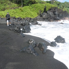 Kahului, Maui - Black Sand Hana