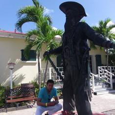 Blackbeard statue