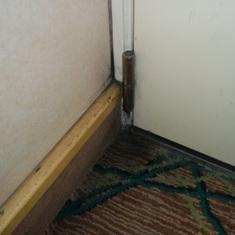 Mold in corner of stateroom