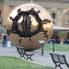 Civitavecchia (Rome), Italy - Modern art at Vatican Museum.