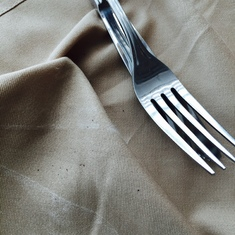 Dirt found in napkin utensils wrapped in