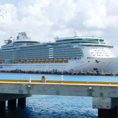 Cozumel, Mexico - The Liberty of the Seas was in Cozumel the same day.