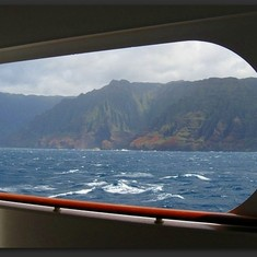 Cruising along the Kauai Coast