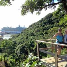 Zip & Dip  Tour; Roatan, Honduras