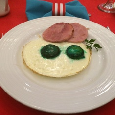 Green eggs and ham at Seuss brunch