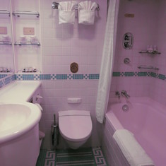 Full Size Bathtub In Mini Suite!