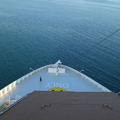 Belize City, Belize - Sailing the Caribbean Sea - view from Deck 17
