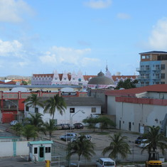 Aruba from the dock