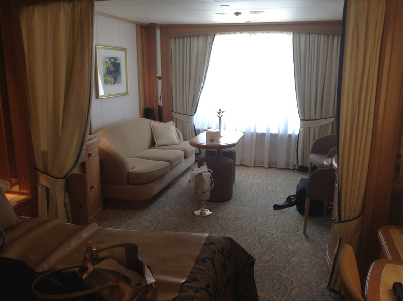 Welcome champagne in cabin - Seabourn Legend