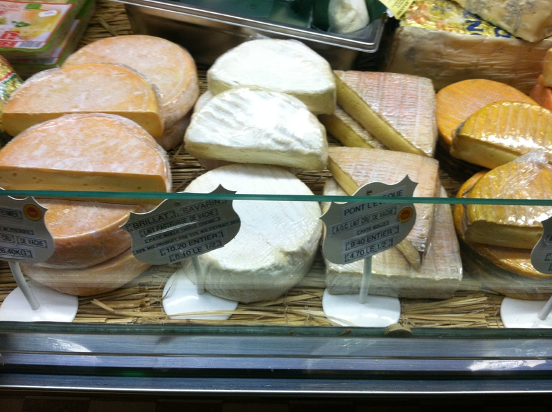 Toulon, France - Cheese at the market in Aix