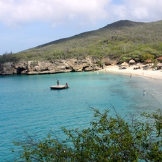 The most photographed beach in Curacao