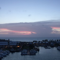 King's Wharf, Bermuda - Sunset viewed from ship