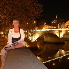 Civitavecchia (Rome), Italy - Night time  the Tiber