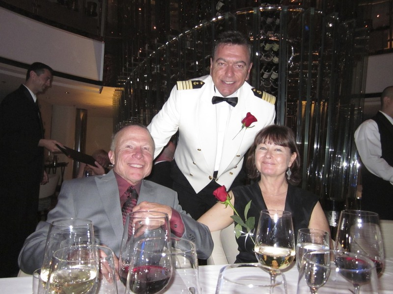 Dinner at the Captain's Table - Celebrity Eclipse