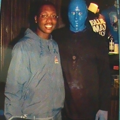 Here, I got to meet one of the 'Blue Men' after the show!