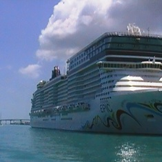 Norwegian Epic docked in Nassau, Bahamas!