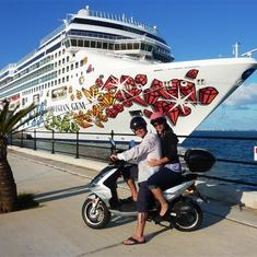 touring the whole island by scooter