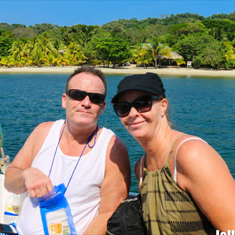 Coxen Hole, Roatan, Bay Islands, Honduras - Getting ready to snorkel