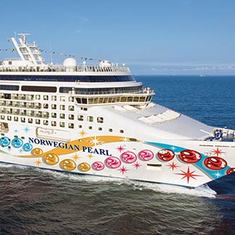 Our ship, the Norwegian Pearl