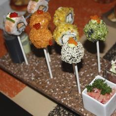 Sushi pops in Qsine