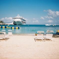 Grand Princess taken on Beach at Margaritaville Ochos Rios