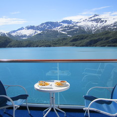 Breakfast at Glacier Bay