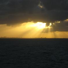 Lovely sunset leaving Port Everglades 11/26/2011