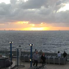 Lovely, lovely sunset.