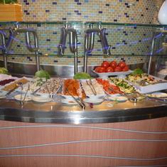 Buffet Salad Bar Lido Deck