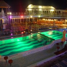 Pool Deck at night