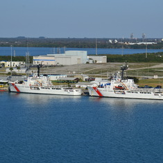 Coast Guard Ships in port