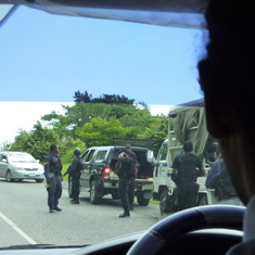 Jamaica Police Road Block (looking for drugs)
