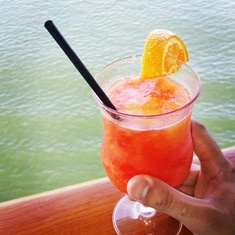A drink on the Lido Deck.