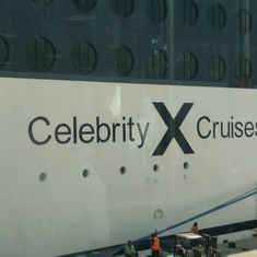 Celebrity Consellation Logo on Ship
