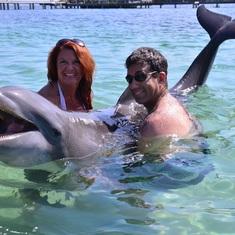 Mahogany Bay, Roatan, Bay Islands, Honduras - Dolphin Swim & Snorkel